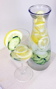 Cucumber Lemon Water